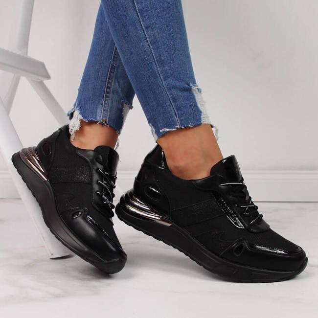 Sneakersy damskie czarne Vinceza