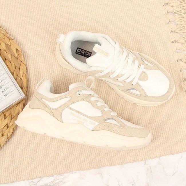 Sneakersy damskie na platformie białe Big Star GG274657