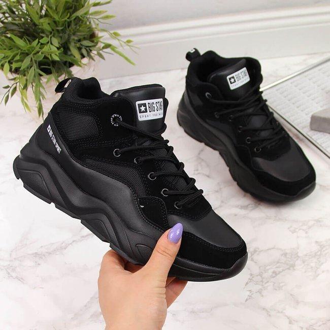Sneakersy damskie na platformie czarne Big Star GG274644