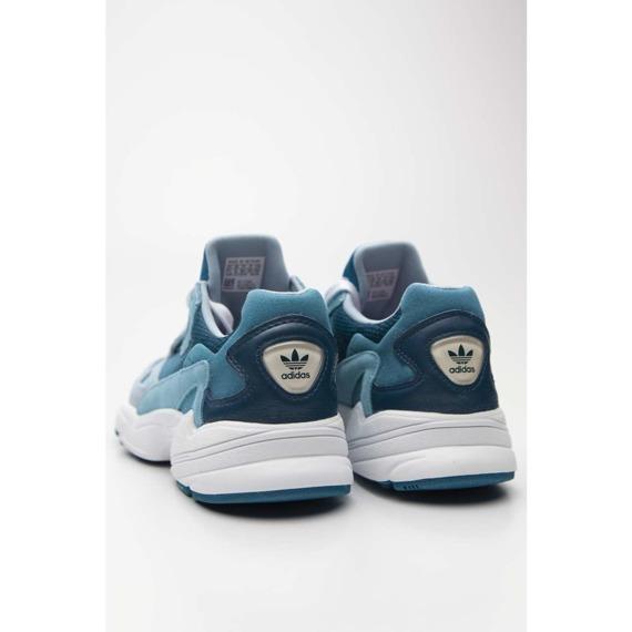 Sneakersy skórzane niebieskie Adidas Falcon W EF1963