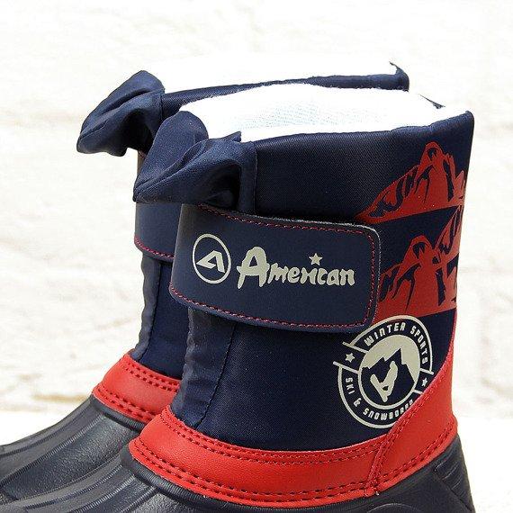 Śniegowce chłopięce ocieplane granatowe American Club
