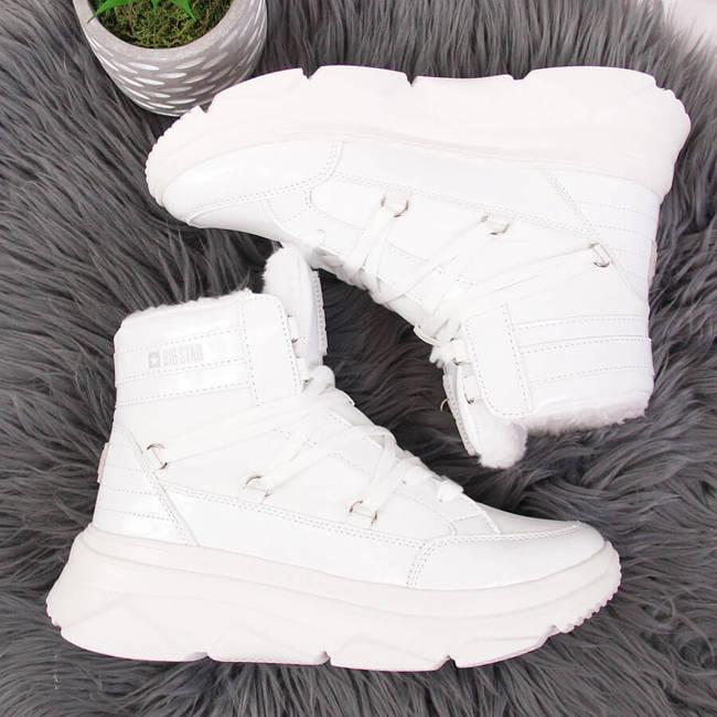 Śniegowce damskie na platformie białe Big Star II274463