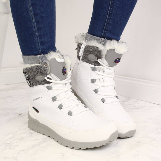 Śniegowce damskie wodoodporne białe American Club