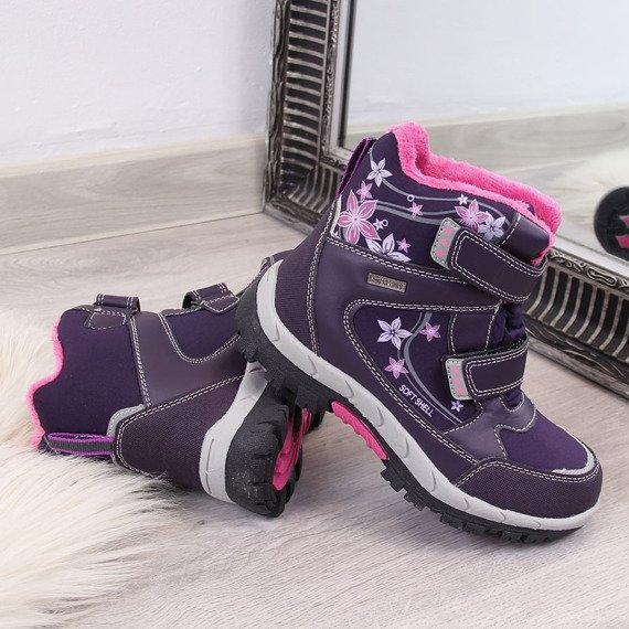 Śniegowce dziecięce wodoodporne zimowe fiolet American Club