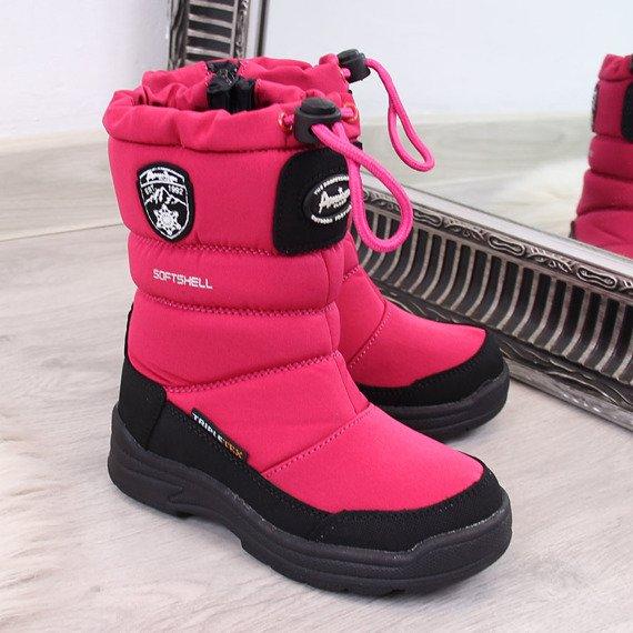 Śniegowce dziecięce zimowe wodoodporne różowe American Club