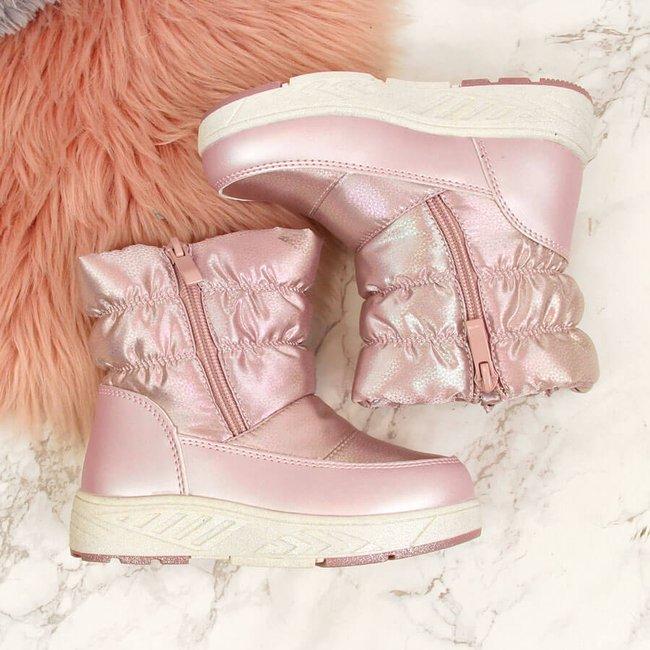 Śniegowce dziewczęce ocieplane różowe Miss❤E