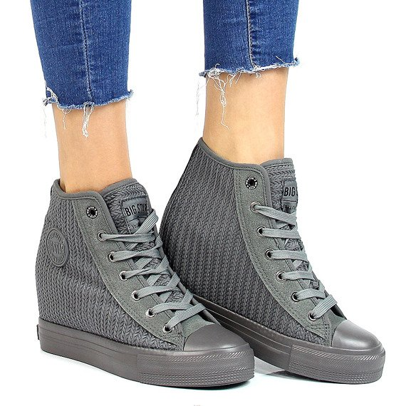 Szare sneakersy damskie Big Star Y274048