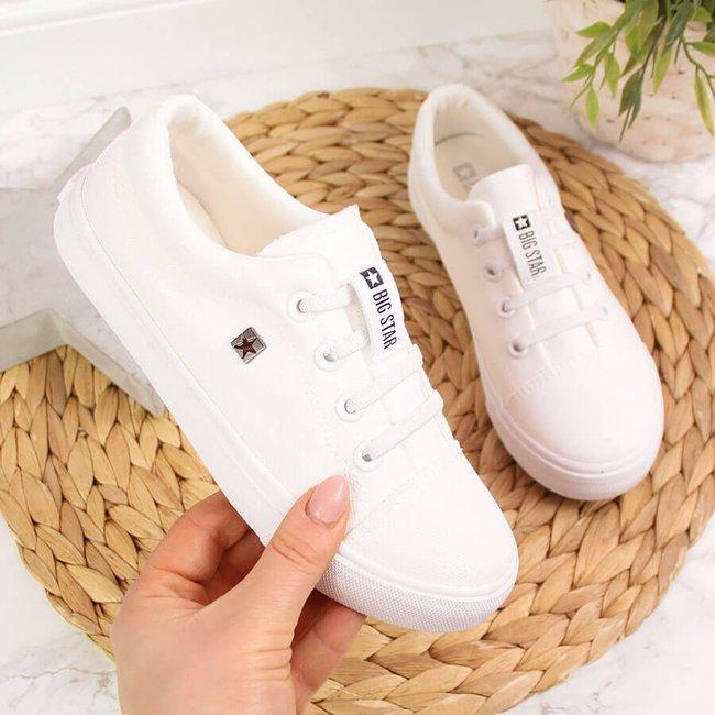 Tenisówki dziecięce tekstylne białe Big Star DD374074