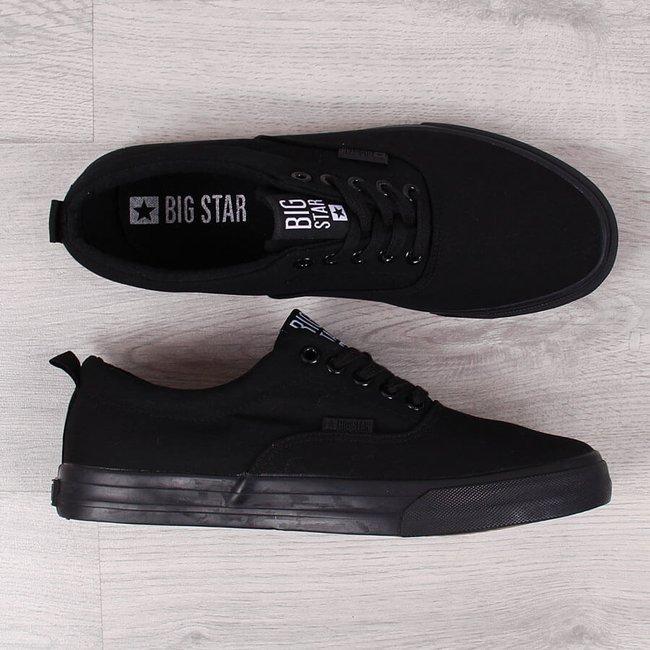 Tenisówki męskie tekstylne czarne Big Star FF17459