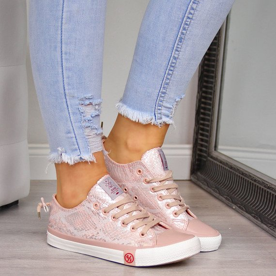 Trampki damskie niskie różowe Cross Jeans