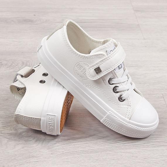 Trampki dziecięce na rzep białe Big Star EE374035