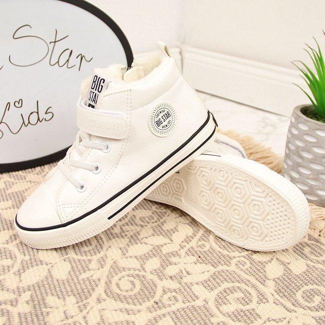 Trampki dziecięce ocieplane białe Big Star GG374033