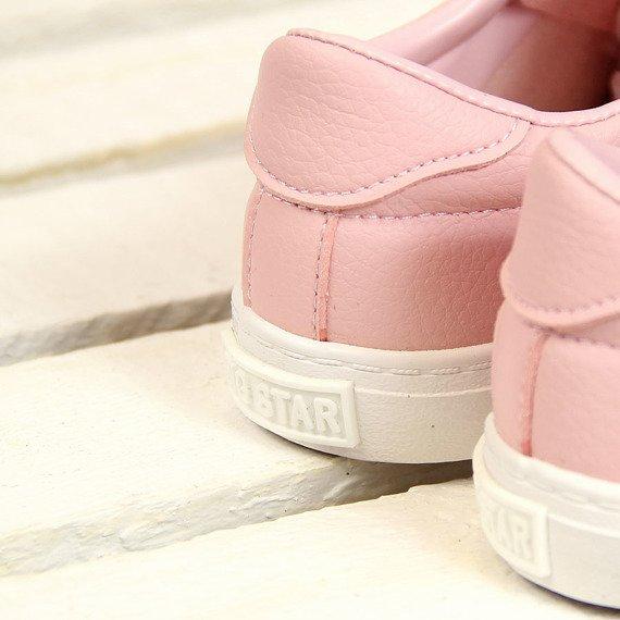 Trampki dziewczęce skórzane różowe Big Star AA374038