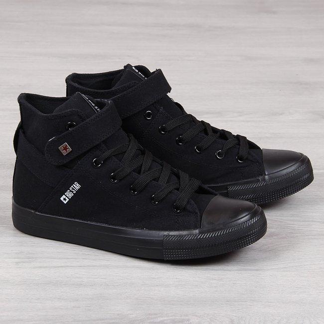 Trampki męskie tekstylne czarne Big Star FF174139