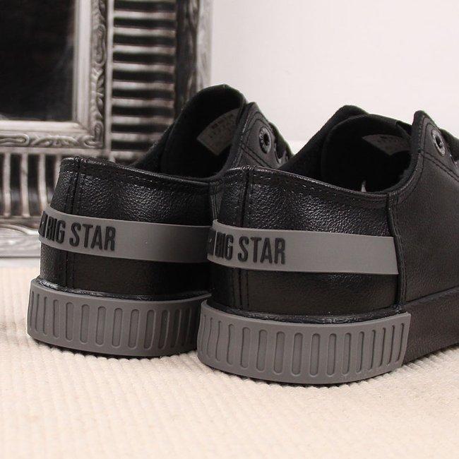 Trampki niskie eko skóra czarne Big Star FF274177