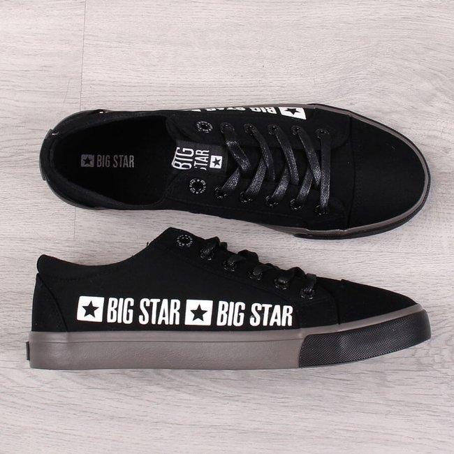 Trampki niskie męskie tekstylne czarne Big Star FF174527