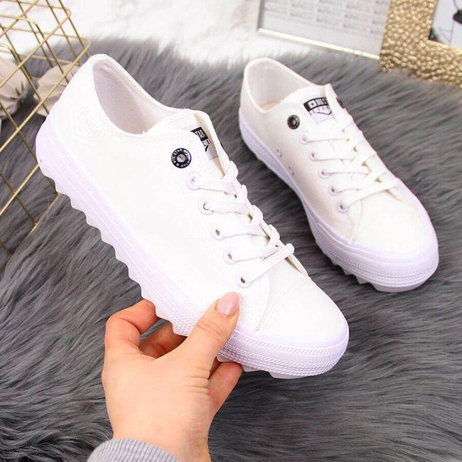 Trampki niskie tekstylne białe Big Star FF274245