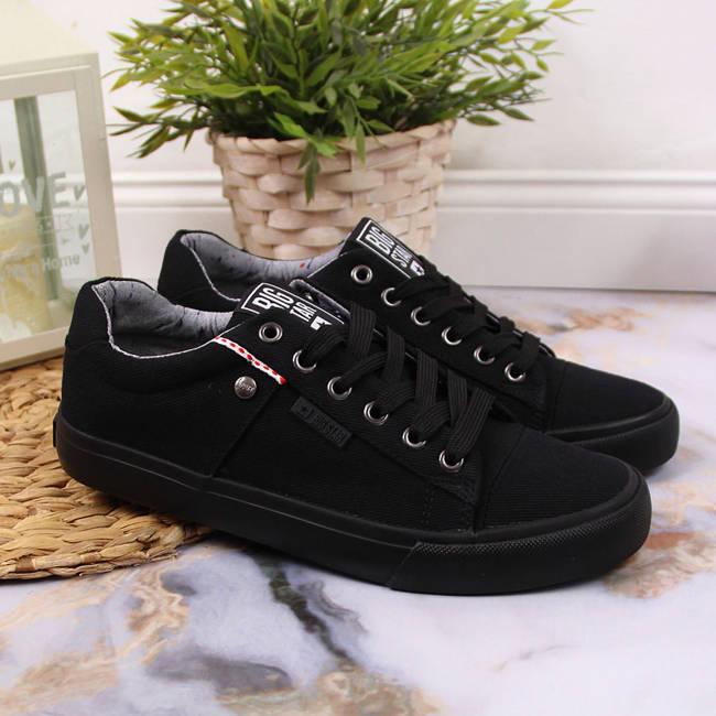 Trampki niskie tekstylne czarne Big Star