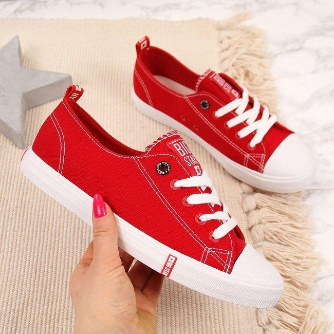 Trampki niskie tekstylne czerwone Big Star FF274089