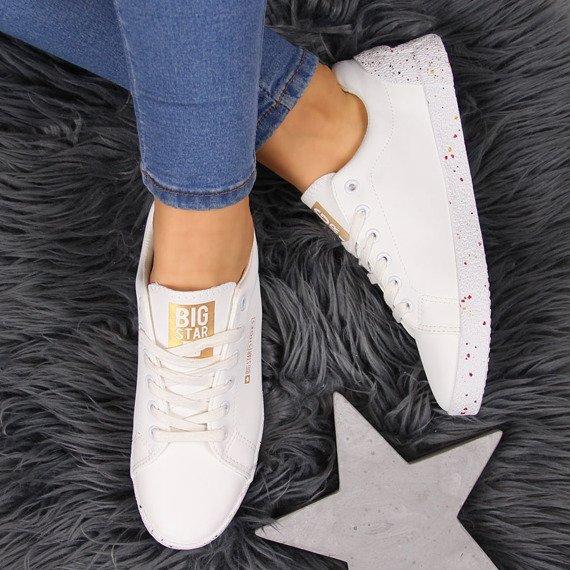 Trampki z gwiazdą białe Big Star AA274A007