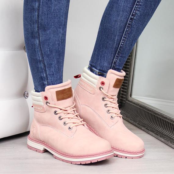 Trapery damskie różowe Cross Jeans