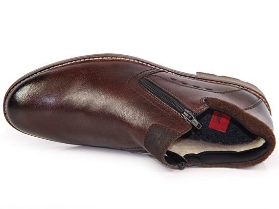 Trzewiki męskie skórzane brązowe Rieker B5582-25