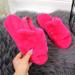 Kapcie damskie domowe futerko różowe Seastar